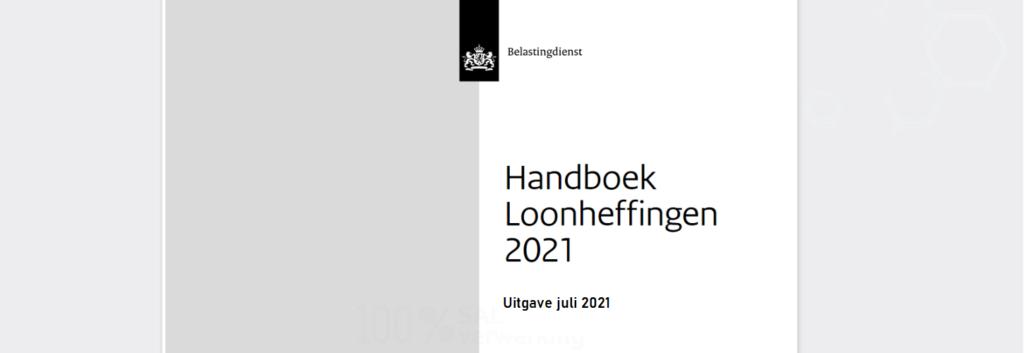handboek loonheffingen 2021, belastingdienst, loonheffing,
