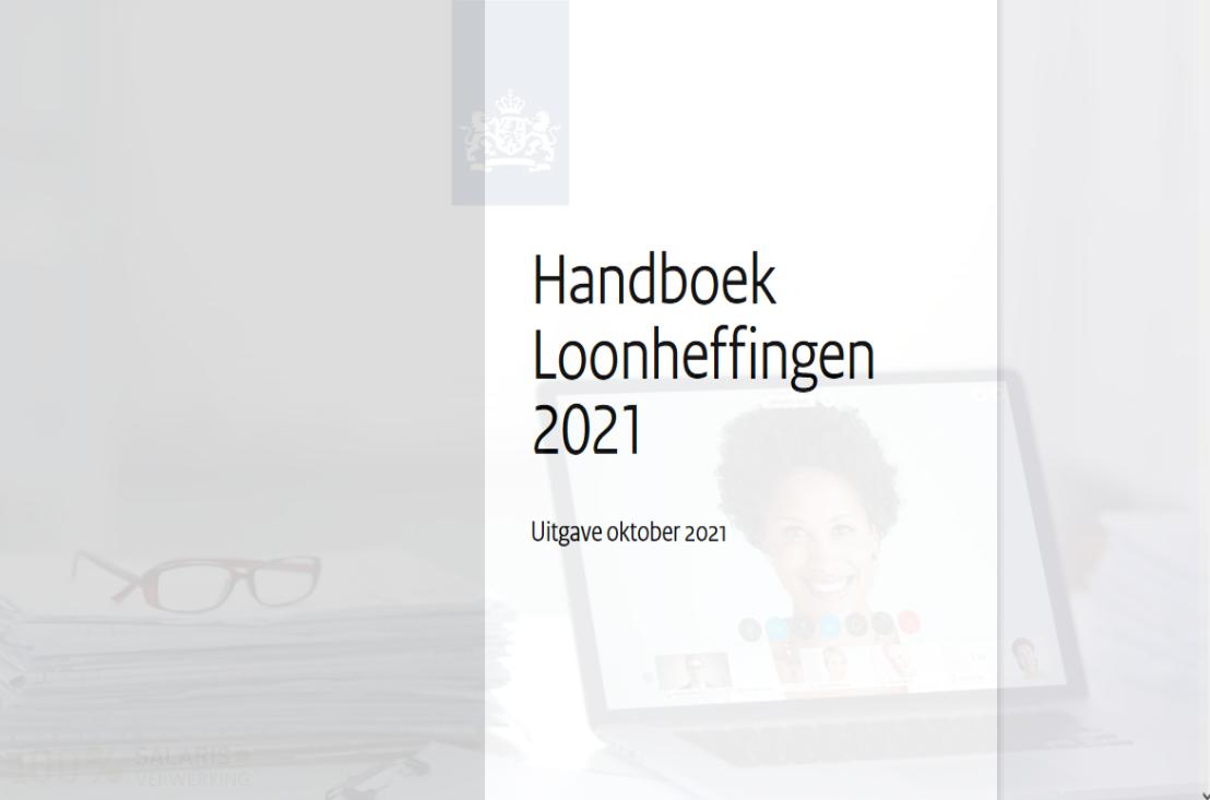 Handboek Loonheffingen 2021 Uitgave oktober 2021